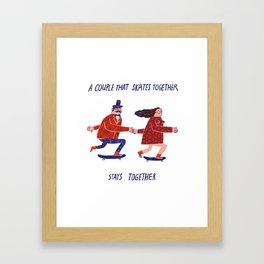skate couple Framed Art Print