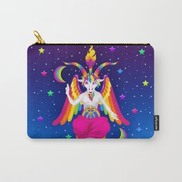 1997 Neon Rainbow Baphomet Carry-All Pouch