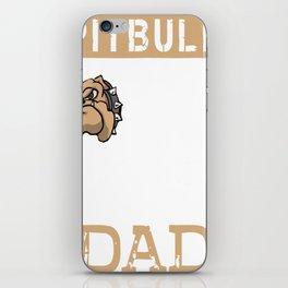 Mens Proud Pitbull Dad Shirt iPhone Skin