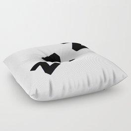 Zzzs in Black Floor Pillow