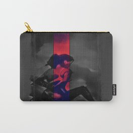Charcoal and Lace Carry-All Pouch