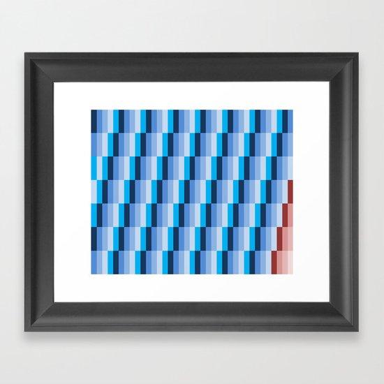 Fuzz Line #1 Framed Art Print