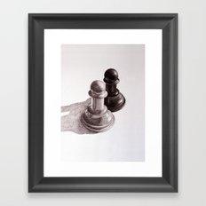 Chess Pawns Framed Art Print