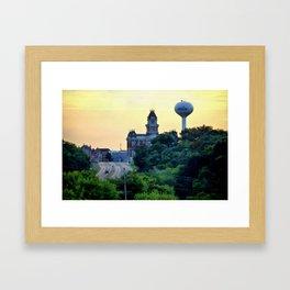 Shelbyville, Illinois Overlook Framed Art Print
