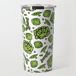 Green Vegetables Pattern Travel Mug