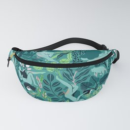 Reading girls among the plants with cats Fanny Pack