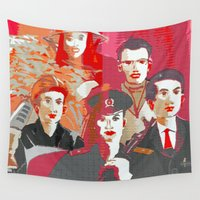 soldier Wall Tapestries featuring Tinker, Tailor, Soldier, Spy  by Ethna Gillespie