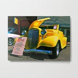 Classic yellow roadster Metal Print