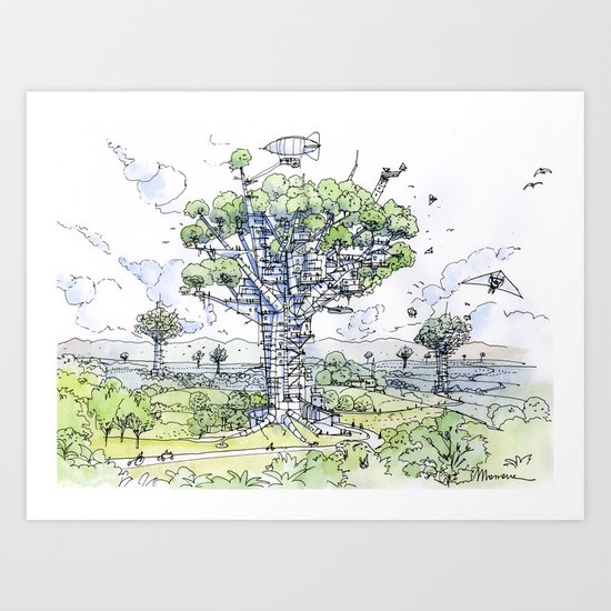 La Citta Arborea! Art Print