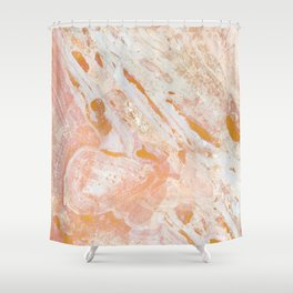 Gold Feelings Shower Curtain