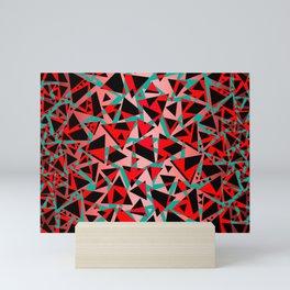 Pieces of colorful broken glass print Mini Art Print
