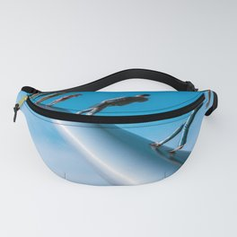 Walking To The Sky Blue Print Fanny Pack