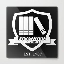 Bookworm University - Inverted Metal Print