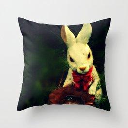 Garden Rabbit Throw Pillow