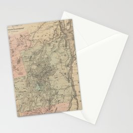 Vintage Map of The Adirondack Mountains (1879) Stationery Cards