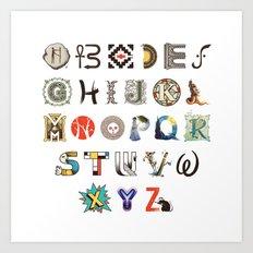 A-Z Art History Art Print
