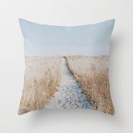 summer blues Throw Pillow