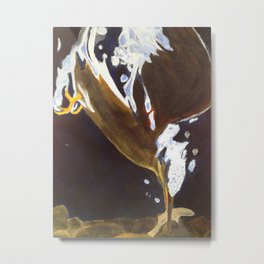 Kingfisher Dive Metal Print