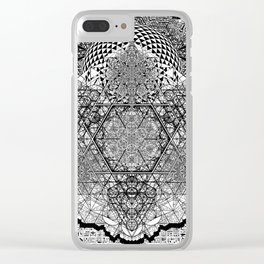 geometric poster 1 Clear iPhone Case