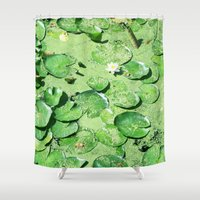 monet Shower Curtains featuring Almost Monet by BRITADESIGNS
