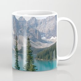 Moraine Lake - Trees Coffee Mug