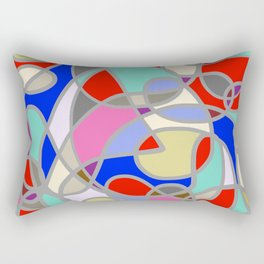 Stain Glass Abstract Meditation Painting 1 Rectangular Pillow