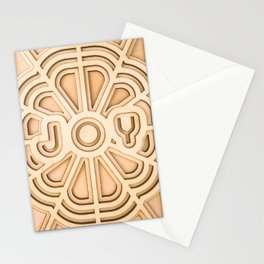 Joy - Wooden Laser Cut Print Stationery Cards