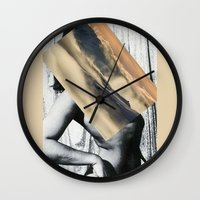 mother Wall Clocks featuring Mother by Erin Case