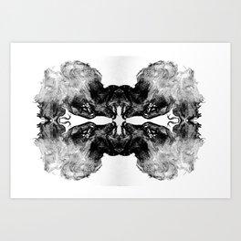 rorschach no4 Art Print