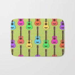 Fun colorful Ukuele Pattern Bath Mat