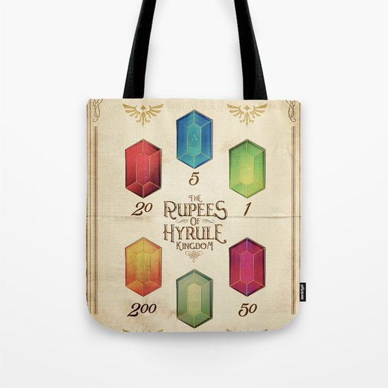 Legend of Zelda - The Rupees of Hyrule Kingdom Guide Tote Bag