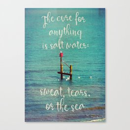 The cure for anything Canvas Print