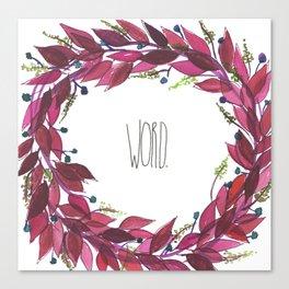 Word wreath Canvas Print