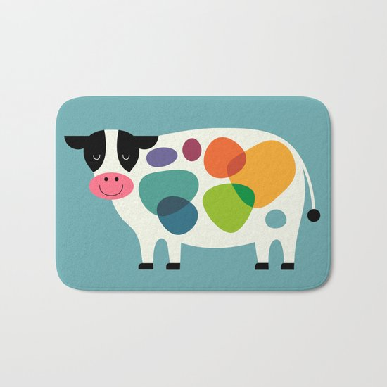 Awesome Cow Bath Mat