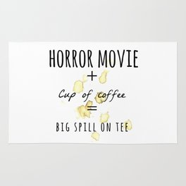 Horror movie + Coffee Rug