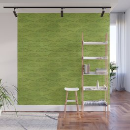 Palm Traffic! (Olive Green) Wall Mural