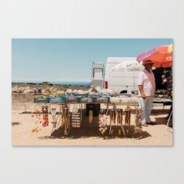 The Shells' Seller Canvas Print