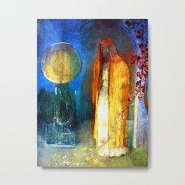 "Odilon Redon ""The Yellow Cape"" Metal Print"