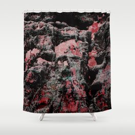 Red Stone Faces Shower Curtain