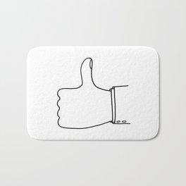 Thumbs Up Bath Mat