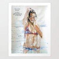melissa smith Art Prints featuring Melissa Baker by Bud McNichol