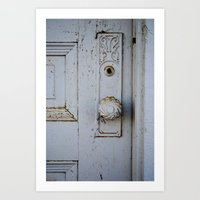 Farmhouse Door Art Print