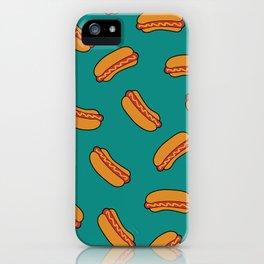 Hotdog pattern iPhone Case