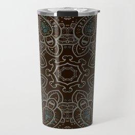 Earth Tones Paisley Mandala Travel Mug