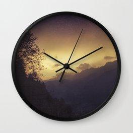 Sunrise in the Italian Alps Wall Clock
