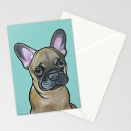 Armand the Frenchie Pup Stationery Cards