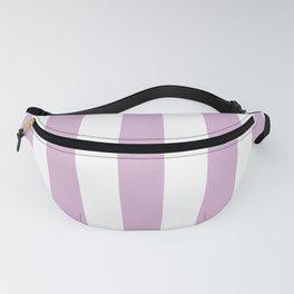 Pink lavender violet - solid color - white vertical lines pattern Fanny Pack