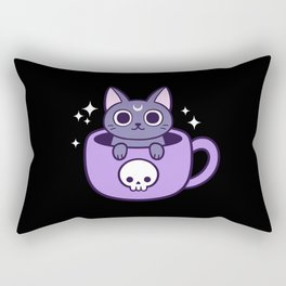 Black Magic Tea / Coffee Cat 02   Nikury Rectangular Pillow
