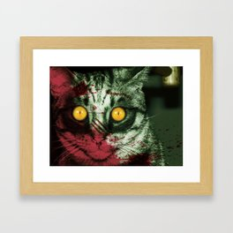 Zombie Kitty Framed Art Print