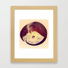 Defensive Dragon Framed Art Print